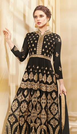 Black Apple Georgette Salwar Kameez