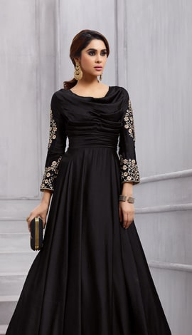 Black Fobi Silk Gowns
