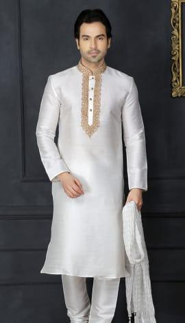 White Silk Men
