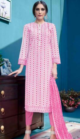 Pink Cambric Salwar Kameez