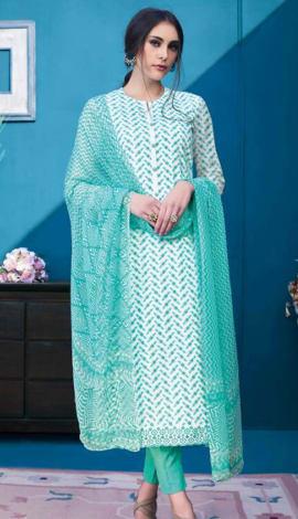 Green Cambric Salwar Kameez