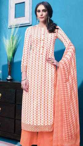 Orange Cambric Salwar Kameez