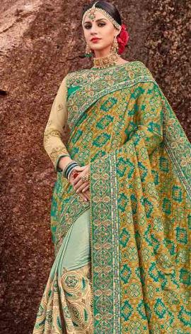 Green Jacquard Saree