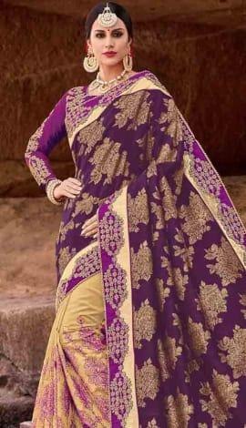 Purple Jacquard Saree