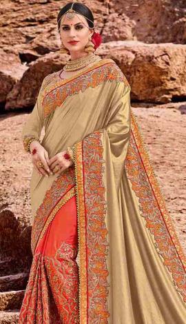 Gold Jacquard Saree