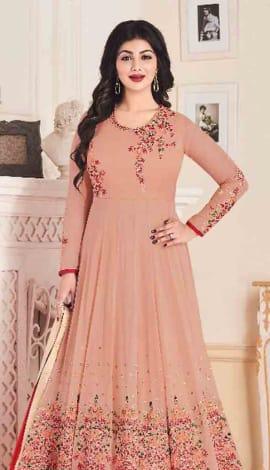 Pink Georgette Salwar Kameez
