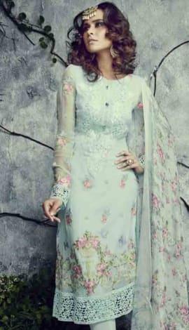 Blue Georgette Salwar Kameez