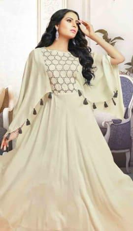 Cream Silk Gowns