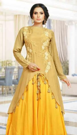 Yellow Silk Gowns