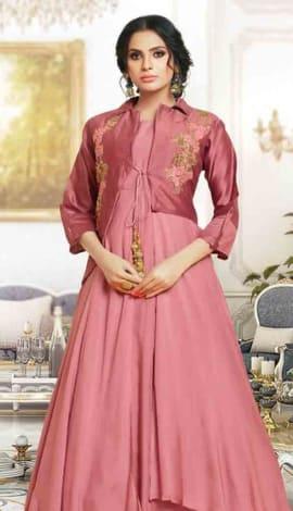 Pink Silk Gowns