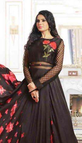 Black Satin Gowns
