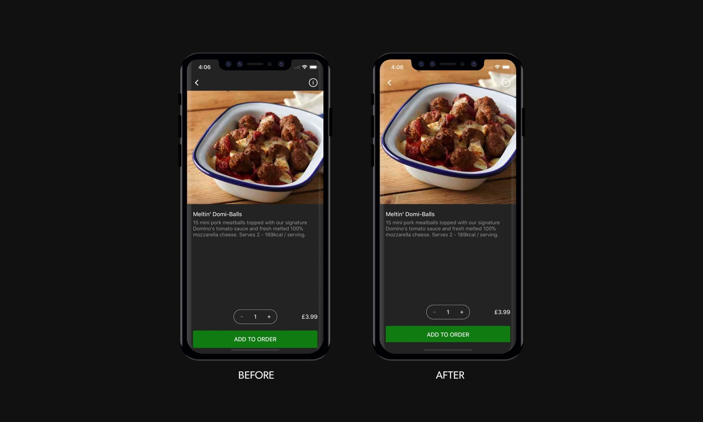 Before and after improvements for rendering images after the release of the iPhone X.