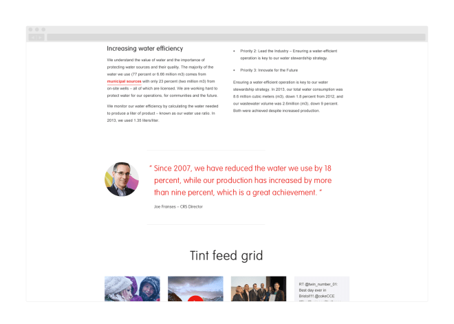 An example of how a quote should be rendered on the site.