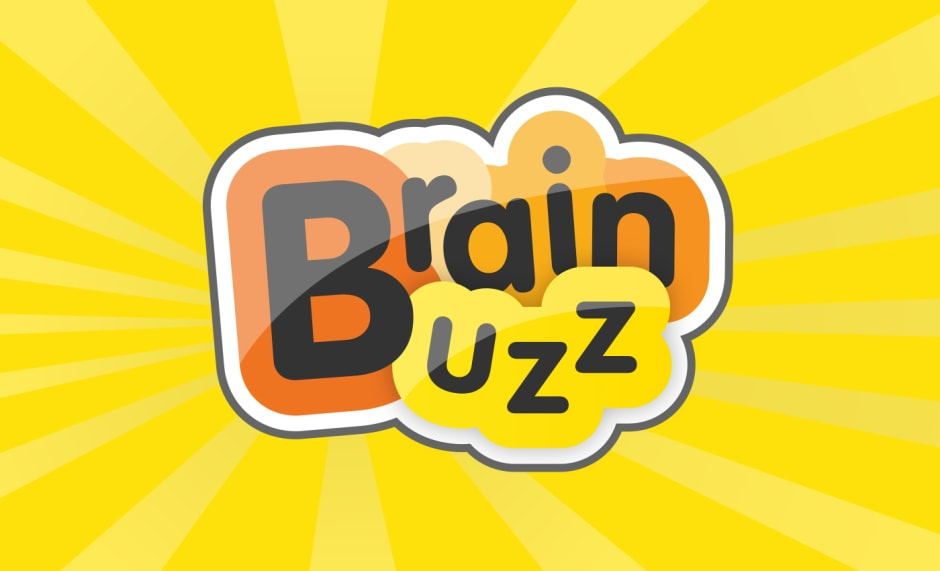 Secondary branding for the 'Brain Buzz' category of games.