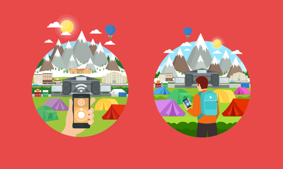 Illustrations for the app as designed by Dominic Mylroie.