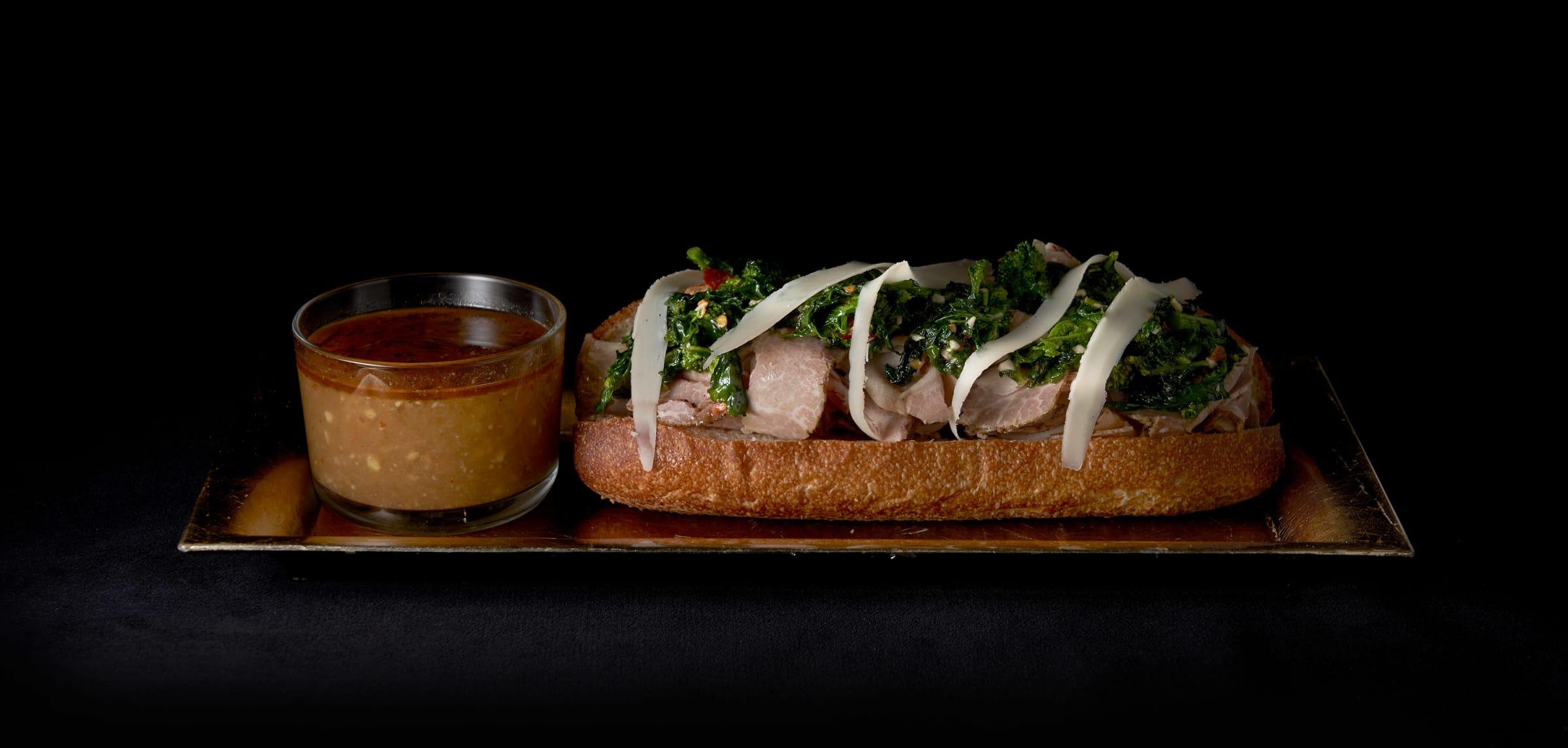 Pork & Cheese Dip Sandwich