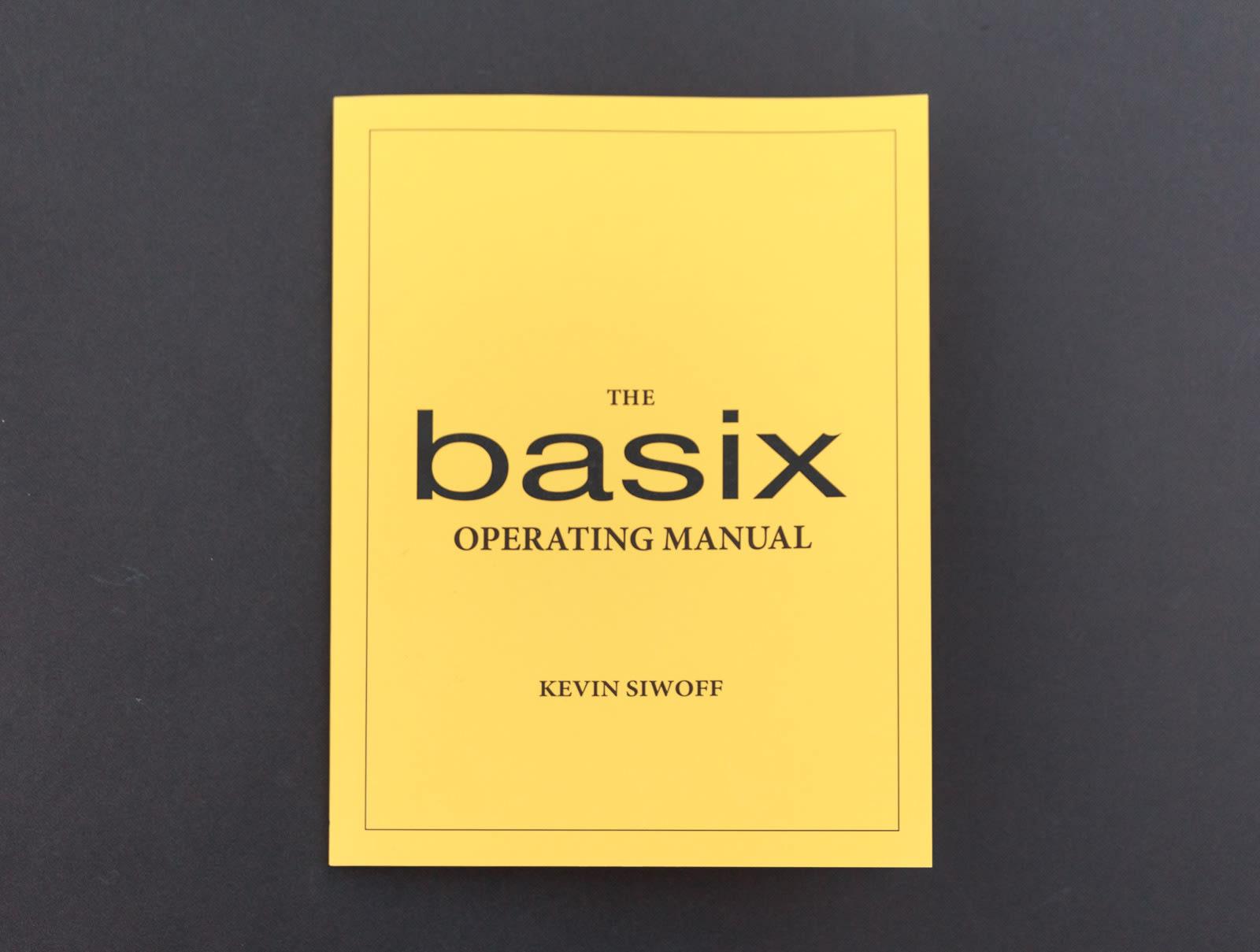 Basix Operating Manual