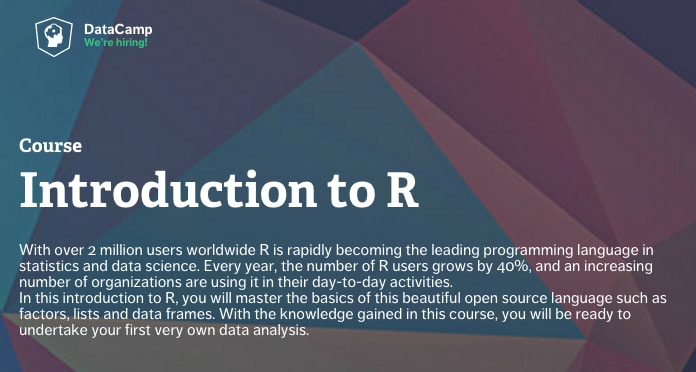 دوره آموزشی رایگان R در DataCamp