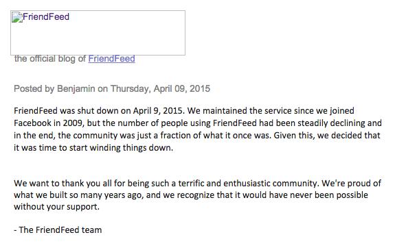 مطلب وبلاگ فرندفید در روز تعطیل شدنش