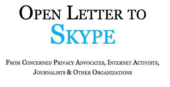 Open Letter to Skype