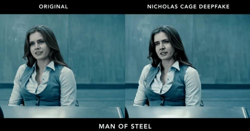 اضافه کردن چهره نیکلاس کیج در فیلم مرد پولادین