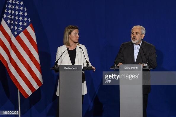 محمد جواد ظریف و فدریکا موگرینی