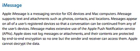 رمزنگاری در iMessage
