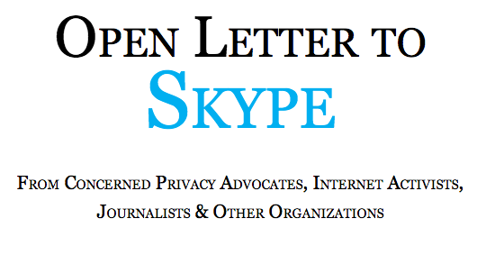 Open Letter to Skype