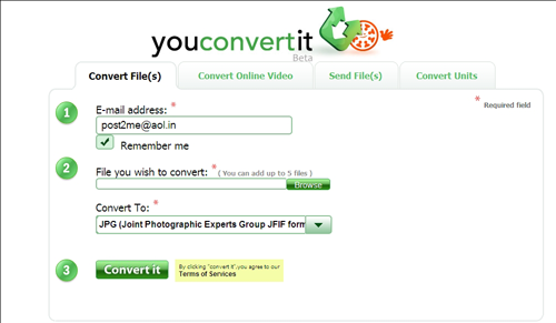 وبسایت YouConverIt