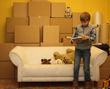 Nyugodt költözés, gyermekkel költözés