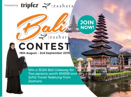 Win a trip to Bali for two persons with Tripfez & Zaahara