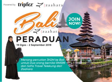 Menangi percutian ke Bali untuk dua orang bersama Tripfez & Zaahara