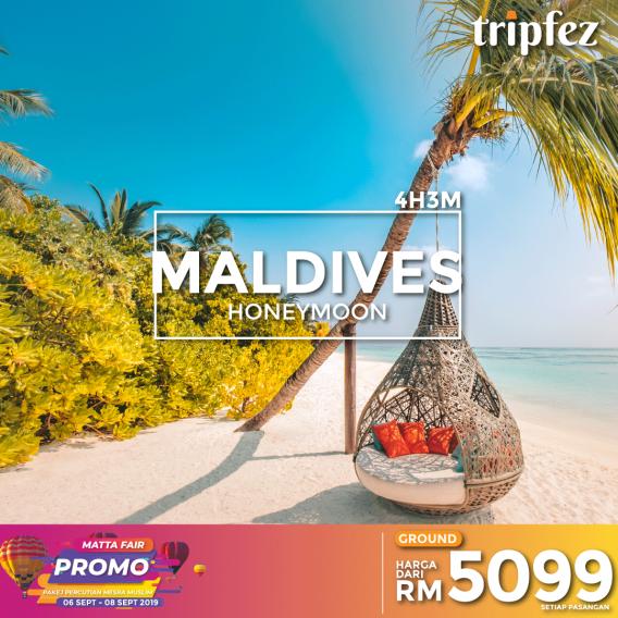 Tripfez MATTA fair maldives honeymoon for two