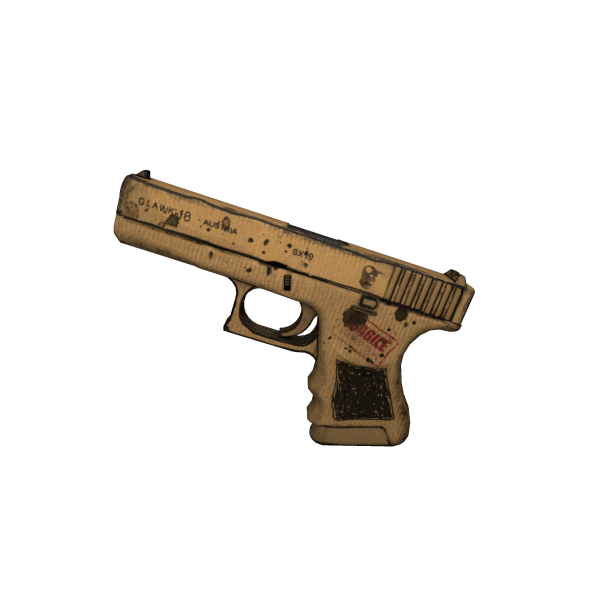 Glock-18 | Cardboard Warfare (Well-Worn)