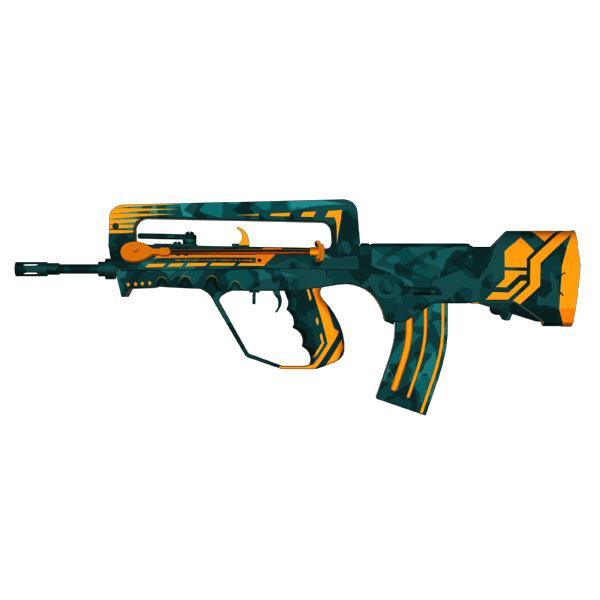 FAMAS | Commando (Battle-Scarred)