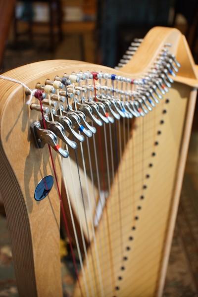 Used Camac Bardic 27 Lever Harp