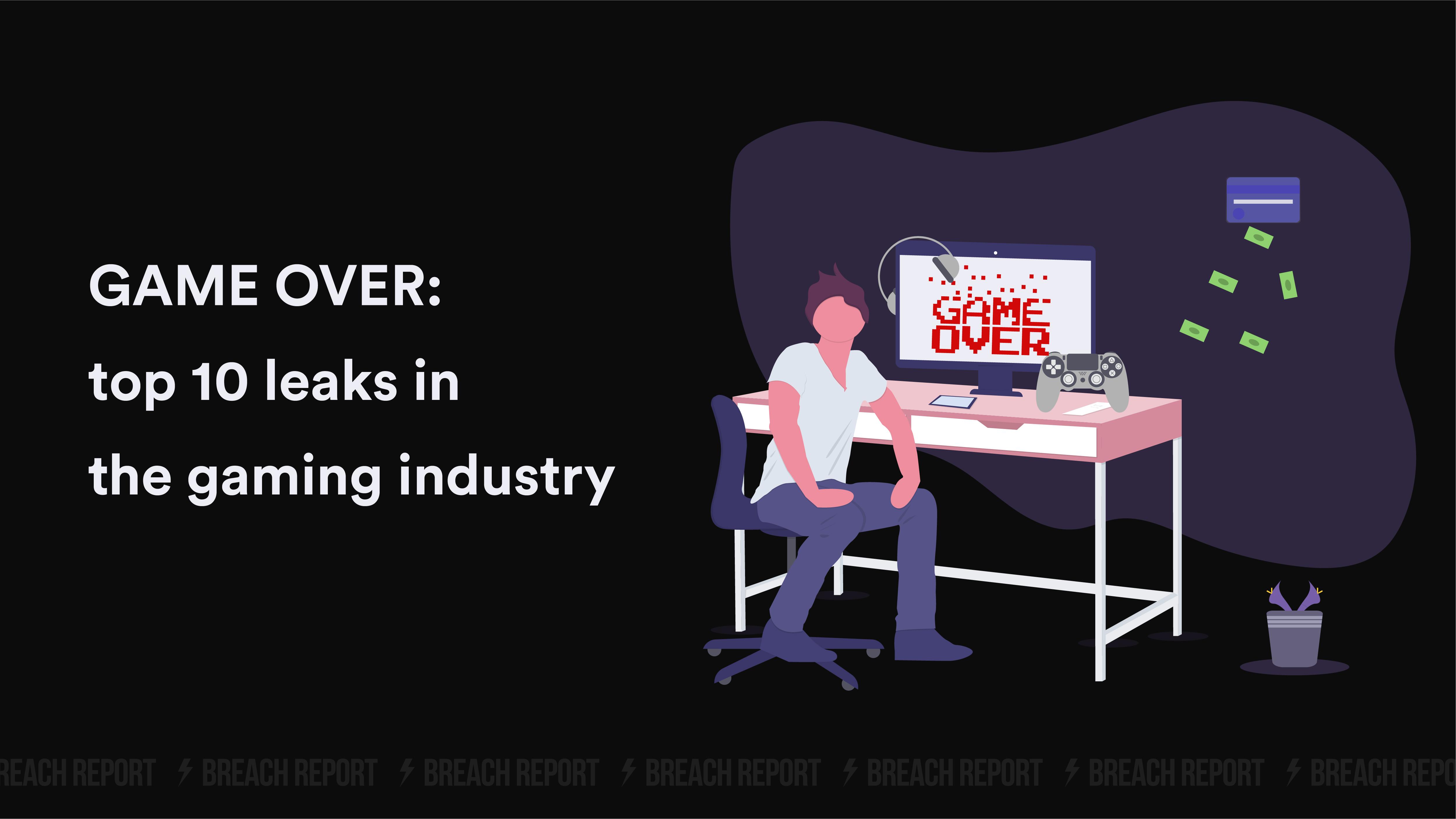 online gaming data hack user data leak gaming hack largest data breaches gaming
