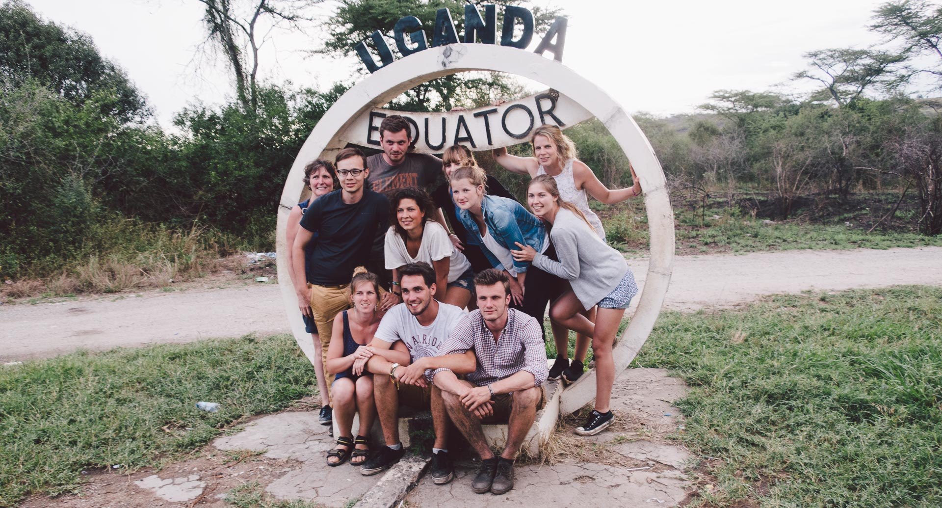 Us at the ugandan equator
