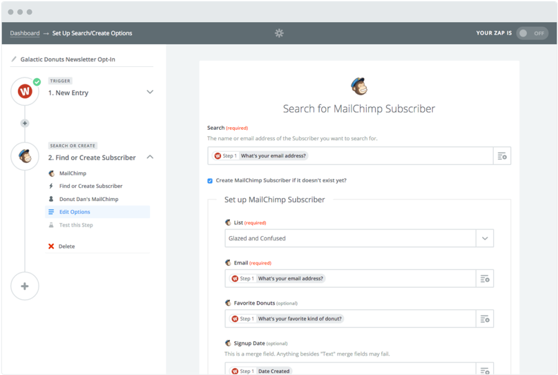 zapier interface