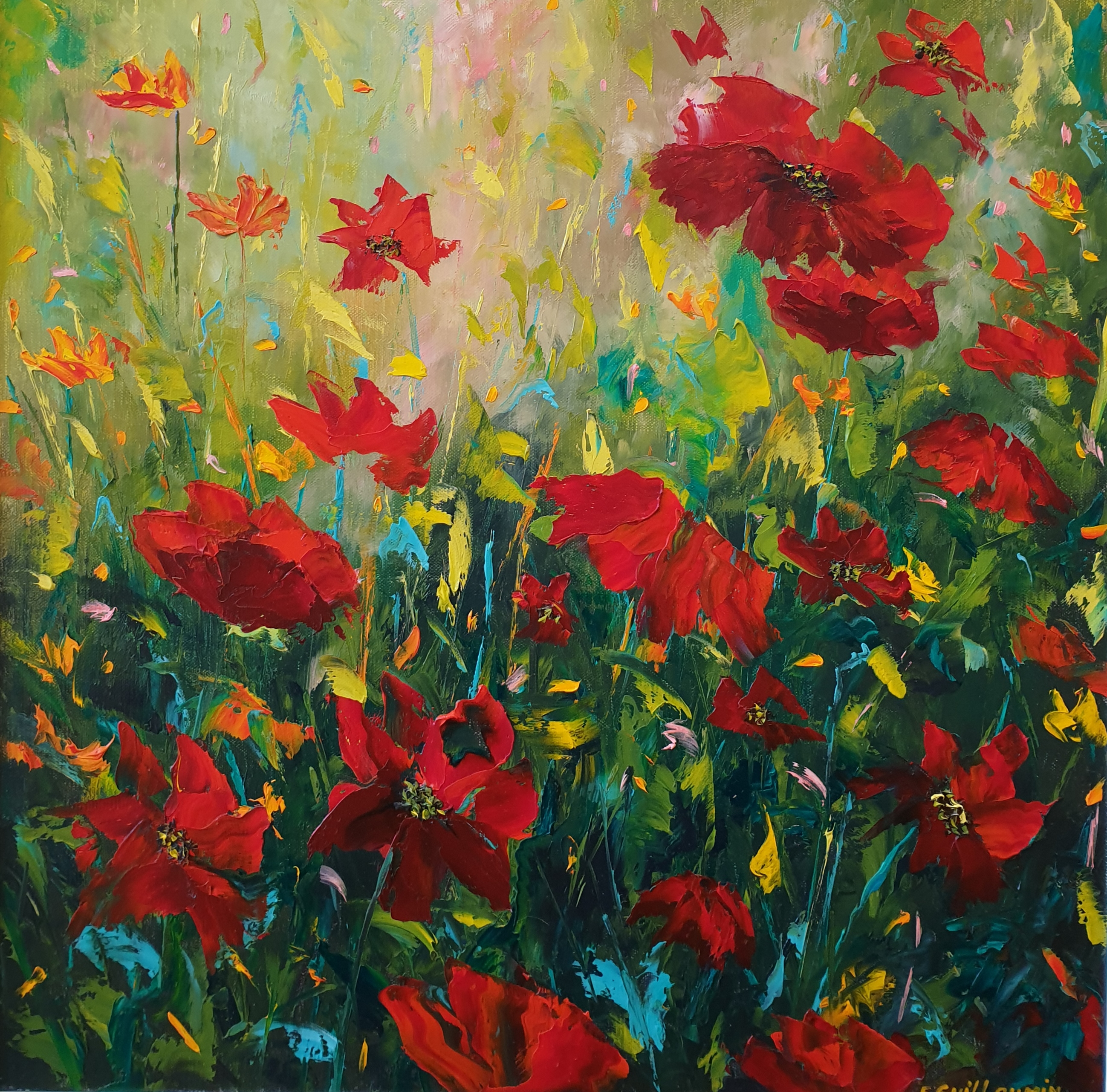 Meadow Sweet (Red Poppies)