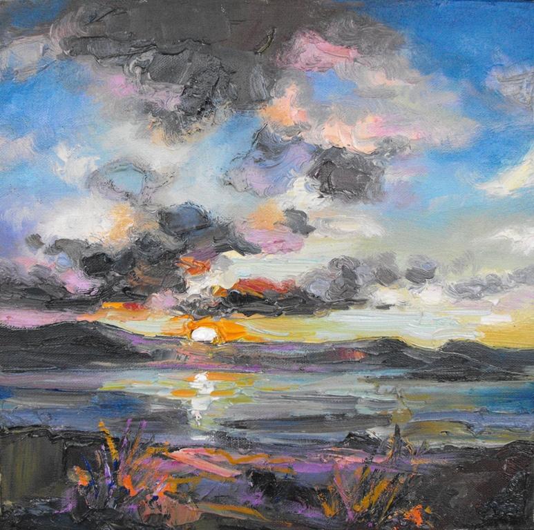 Dark Clouds at Sunset, Loch Eriboll
