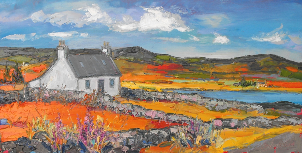 White Cottages near Clachtoll, Assynt