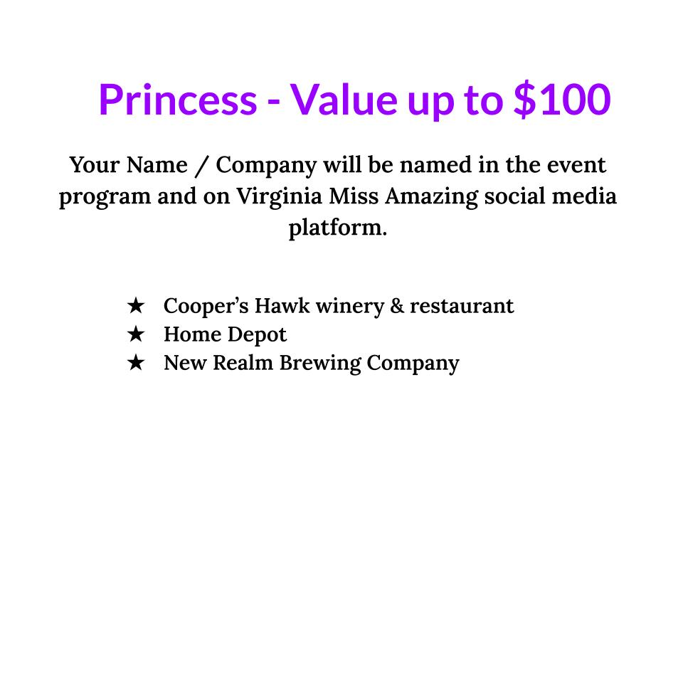 VMA - Princess sponsors 2020