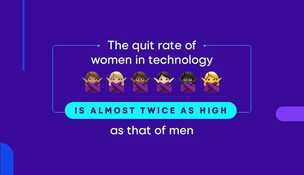 women stats quit rate tech