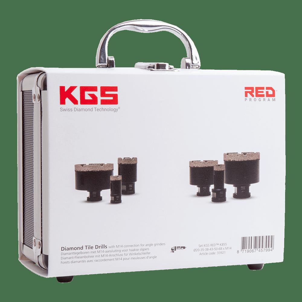 KGS_RED_K855_Diamond_Tile_Drills_case