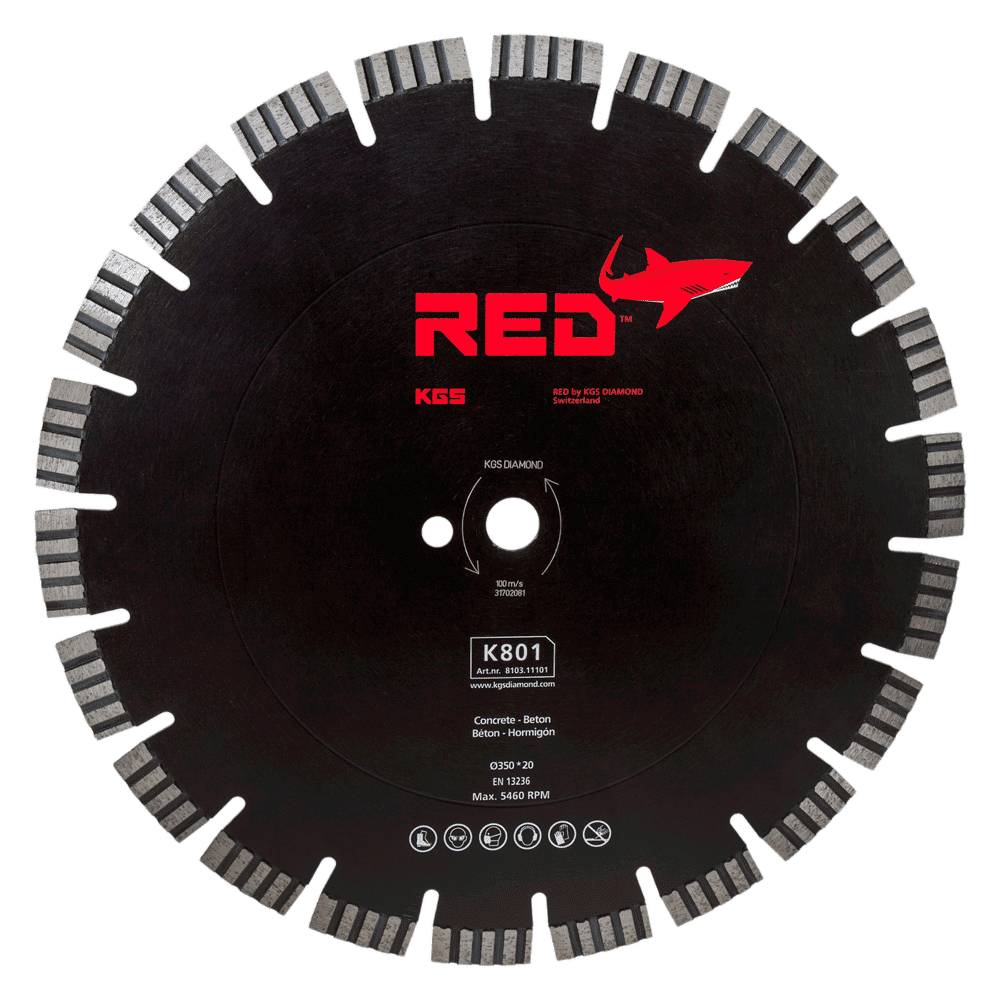 RED-K801-Ø350-Bore-20-8103
