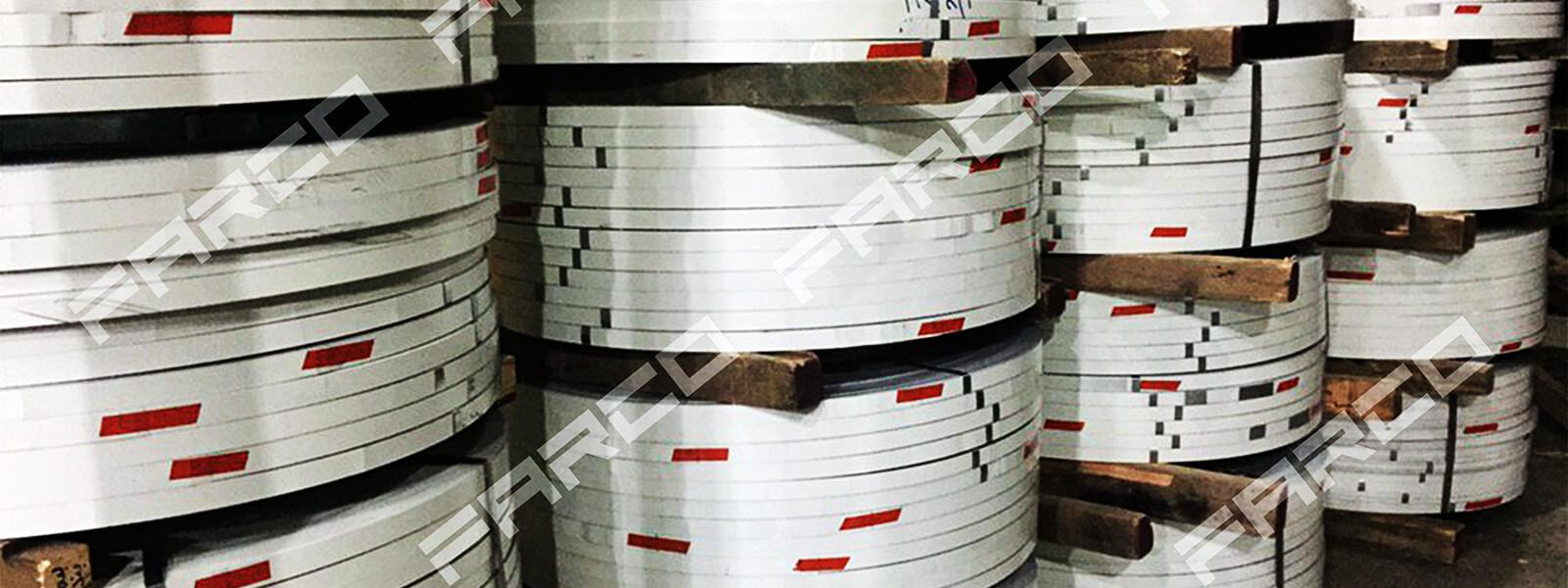 خدمات برش رول به رول ورق فلزات و برش تسمه در فارکو | Farco