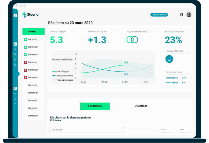 Illustration steerio team dashboard and reports