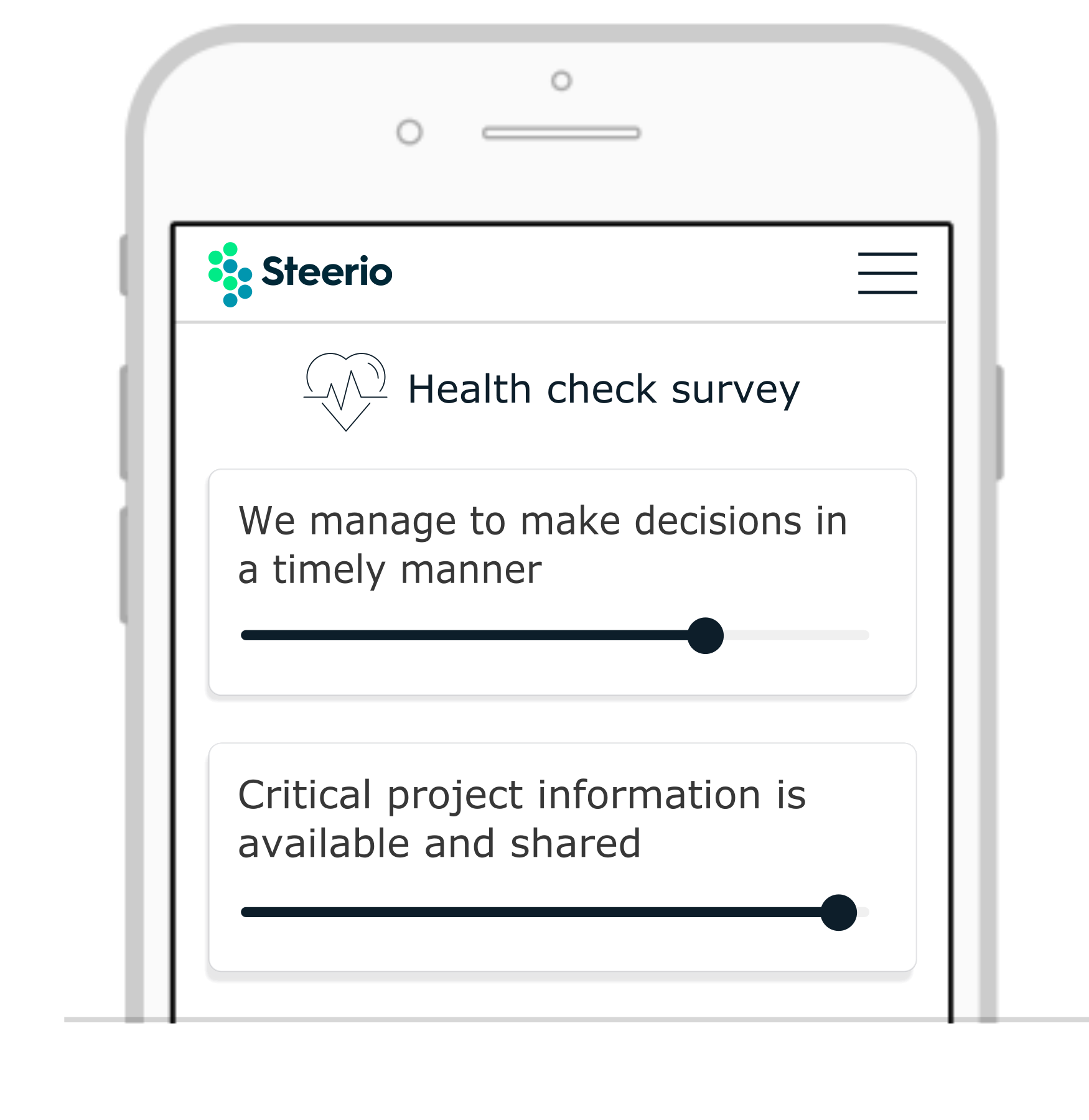It takes only 3minutes to provide insightful feedback with a health check survey