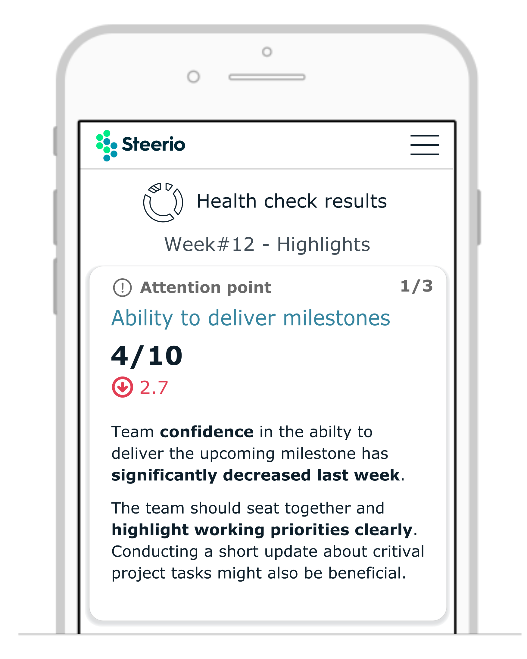 Leverage Steerio insights and analytics to deliver better project work